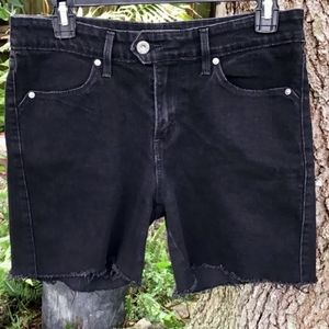 Levi's Cut Offs Demi Curve Black Jean Shorts